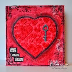 @donnasalazar w @SBAdhesivesby3L #3DFoamKeys and #3DFoamHearts created a #Valentines #Canvas #Tutorial Going #MixedMedia w help from #designmemorycraft Gesso & #Gelatos and @spellbinders #ToolNOne Step Out on Blog