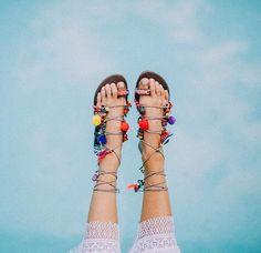 Blue s k i e s and sandal season #freepeople #fppicks #springstyle