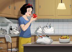 Javier Monsalvett ~ ilustrador. La verdadera historia de la manzana de Blancanieves #ilustracion #dibujo #dibujoinfantil #infantil