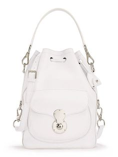 Nappa Ricky Drawstring Bag - Ralph Lauren The Ricky Collection - RalphLauren.com