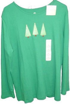 Ladies Holiday Blouse for Christmas by Covington Sport Classic Fit XL - NWT