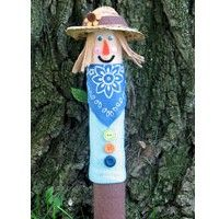 Recycled Cardboard Tube Scarecrow - Kids Craft