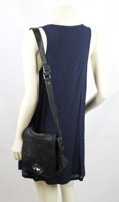 7 Seven for all Mankind Black Leather Studded Crossbody Bag Retail $295 #7SevenforallMankind #MessengerCrossBody