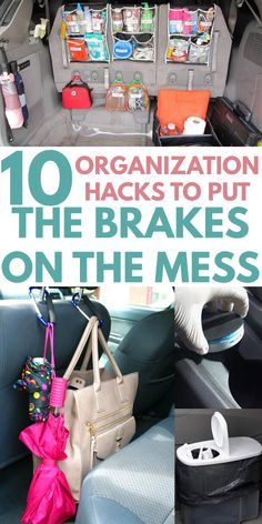 CAR ORGANIZATION is easy with these creative DIY ideas. Find tricks and hacks such as a secret compartment in the front seat cup holder, compartmentalized console dollar store trash can, ultimate trun Suv Trunk Organization, Shoe Organizer, Storage Organization, Storage Ideas, Organization For Shoes, Dollar Store Organization, Organizing Tips, Baby Shoe Storage, Car Storage