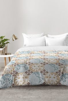 Belle13 Earth Moon Sun Comforter | DENY Designs Home Accessories