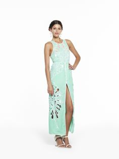 alice mccall sea green cut out dress