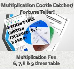 FREE Maths Times Tables Multiplication Printable Games Worksheets Make Learning Maths Fun! Activity Based Learning, Fun Learning, Learning Activities, Multiplication Games For Kids, Math Games, Multiplication Tables, Maths Paper, Paper Games, Cootie Catcher Template