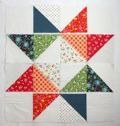 Star Baby Quilt Tutorial layout