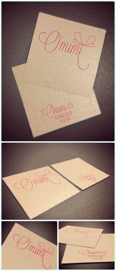 logo design, bussiness card, o'mimi2013  www.omimi.es