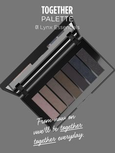 This black and classy case is packed with 7 gorgeous neutral #eyeshadows That Work for absolutely everyone. Enjoy These nude hues: the shades range from delicate pink to shining black in a variety of textures, including shimmer, and matte. TOGETHER is the new beauty must-have for women who want to create a natural-looking eye appropriate for every day but also to make alluring and intense beauty look. Try it now!
