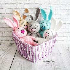 FREE amigurumi little bunny pattern #amigurumi #amigurumipattern #crochettoy #crochetbunny #crochetpattern #amigurumibunny #freeamigurumipattern Easter Bunny Crochet Pattern, Crochet Rabbit, Crochet Toys, Free Crochet, Amigurumi Toys, Amigurumi Patterns, Softies, Crochet Patterns, Kids Toys