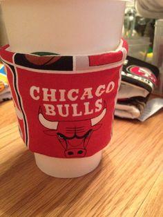 Chicago Bulls Nba Basketball Coffee Sleeve Cozie on Etsy, $3.50