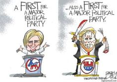 A roundup of funny and provocative cartoons by the nation's top cartoonists.: Campaign Firsts