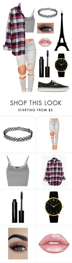 """#Casual#"" by how-i-met-your-fairy-godmother ❤ liked on Polyvore featuring Topshop, Madewell, Bobbi Brown Cosmetics, Lime Crime and Vans"