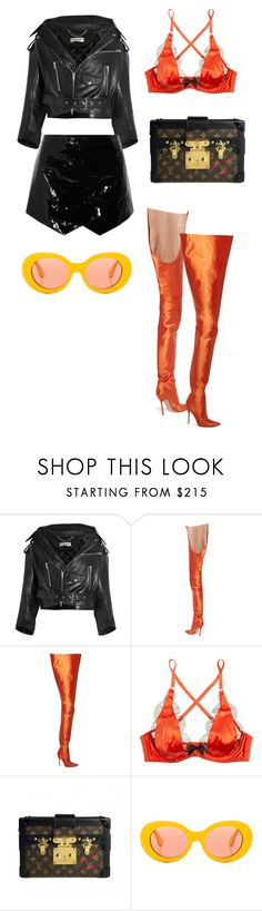 """""""🖤🖤🖤"""" by jaden-jona ❤ liked on Polyvore featuring Balenciaga, Vetements, Agent Provocateur, Louis Vuitton and Acne Studios"""