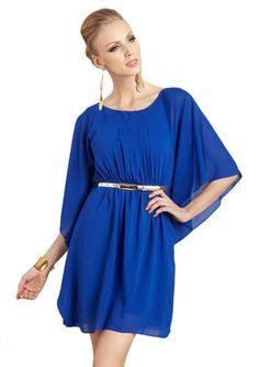 ELIZA J Chiffon Belted Dress
