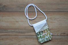 Umhängetaschen - Brustbeutel Sensi Movement white - ein Designerstück von MelanieStraube bei DaWanda