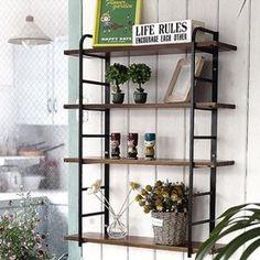Gmarket - 0148EF/Steel Frame/Wall Shelves/Wooden Cabinet/Multipu...