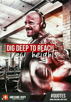 Love this saying! Dig deep :3 #fitspo