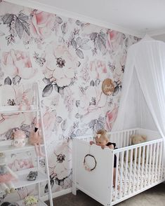 Removable Snowy Rose Wallpaper Mural Peel & Stick Nursery Wallpaper Watercolor Vintage Floral Art Pink Flowers Baby Girl Wallpaper – My Company Wallpaper Wall, Baby Girl Wallpaper, Rose Wallpaper, Kids Wallpaper, Self Adhesive Wallpaper, Peel And Stick Wallpaper, Bedroom Wallpaper, Floral Nursery, Nursery Decor