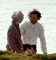 Eleanor and Aidan rehearsing during S1 filming...