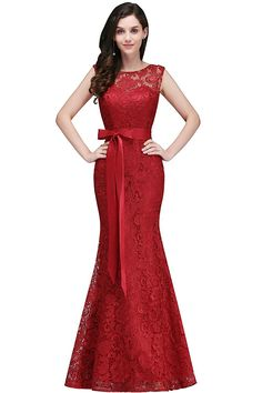 Women Lace Mermaid Evening Dresses for Wedding Cocktail Party
