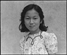 Japanese-American school girl awaiting evacuation, San Francisco, 1942, Dorothea Lange (original photo NARA via Wikimedia Commons)