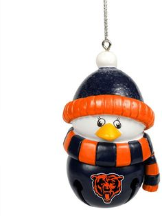 d07c19f6a Forever Collectibles Chicago Bears Penguin Bell Christmas Ornament