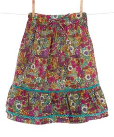 Purple & Turquoise Floral Skirt - Toddler & Girls by Curly Joe #zulily #zulilyfinds