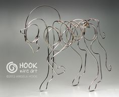 Horse wire sculpture by Angela Hook