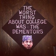 This insanely funny The Office reference: | 24 Graduation Caps That Totally Fucking Nailed It