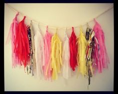 How to make tissue paper garlands on the blog