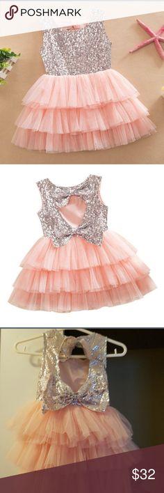 Baby girl dress I think you'll like Kids Girls Skirt Sequined Bow Party Pageant Tulle Tutu Cake Dresses. ❤️size 1-2 yero Dresses Formal