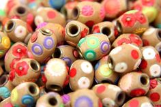 Indian Colorful Resin Beads Set of Twelve Assorted Beads
