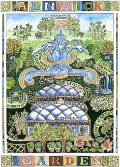 Alnwick Gardens Print  Available here in the North East Art Collective Eldon Garden Newcastle