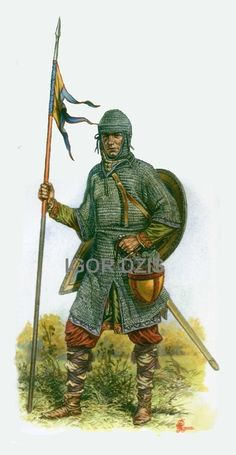 1066 c Norman warrior Medieval Knight, Medieval Armor, Medieval Fantasy, Norman Knight, Bayeux Tapestry, Early Middle Ages, Historical Art, Dark Ages, Illustrations