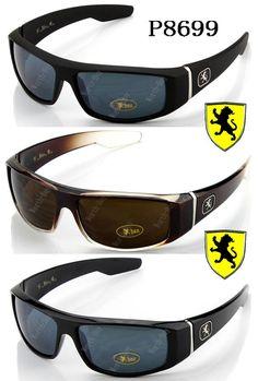 44fbdd45d4231 Mens Khan Sports Fashion Rectangular Sunglasses Shades Golf Bike Retro Wrap