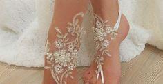 Barefoot Wedding sandal and shoe inspiration for beach wedding 2016