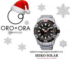 Κερδίστε φέτος τα Χριστούγεννα ένα SEIKO SOLAR Seiko Solar, Breitling, Chronograph, Creatures, The Incredibles, Places, Accessories, Lugares, Jewelry Accessories