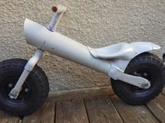 Balance bike made with PVC pipes!