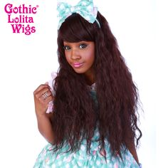 Genuine RHAPSODY Collection by Gothic Lolita Wigs chocolate dark brown is long beachy cascading waves High temperature fibers for japanese hairstyle Natural Wigs, Anime Wigs, Wig Party, Japanese Hairstyle, Angelic Pretty, Bohemian Look, Pastel Hair, Cosplay Wigs, Big Hair