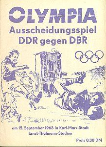 olympia ausscheidungsspiel ddr gegen dbr east germany