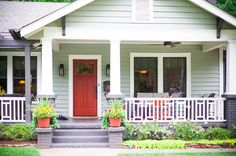 .I would love to add this front porch to my ranch home.  What a difference it would make.