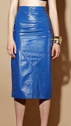 Matilda Leather Skirt - # 407- 50 Colors