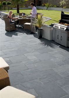 I Quite Like Slate Flag Stones...but I Think It Depends On The