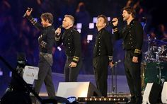 Jason Orange, Gary Barlow, Mark Owen and Howard Donald of Take That perform at the London 2012 Olympic Games Closing Ceremony on August Gary Barlow, Take That Band, Olympia, Howard Donald, Jason Orange, Gavin And Stacey, Mark Owen, Robbie Williams, British Boys