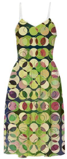MELANGE OF CIRCLES V - Summer Dress I from Print All Over Me. #art #pattern #dress #summerdress #women #fashion #designerdress #geometric
