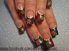 Peppermints- Christmas nails