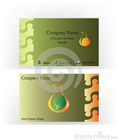 Business #card with #vintage elements and #drop shape #logo imitating a #cruet