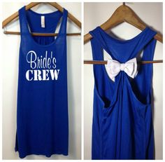 Brides Crew, Nautical Bride Tank, Bridesmaid Tank Top, Maid of Honor Tank Top, Bridal Party Tanks on Etsy, $24.95